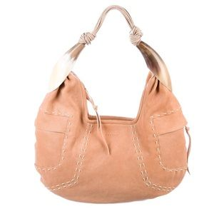 GHURKA Kalahari Goatskin Leather Hobo Shoulder Bag